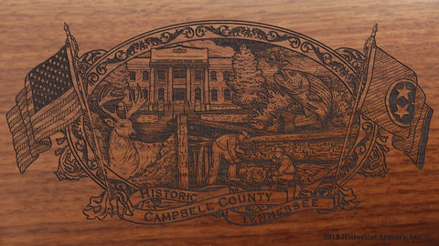 campbell county tennessee engraved rifle buttstock