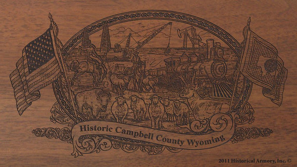 campbell county wyoming engraved rifle buttstock