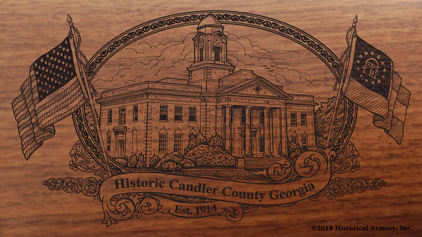 Candler County Georgia Engraved Rifle