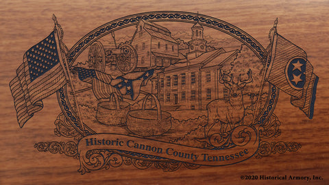 Cannon County Tennessee Engraved Rifle Buttstock