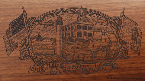cape may county new jersey engraved rifle buttstock