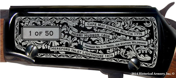 cape may county new jersey engraved rifle h001 receiver