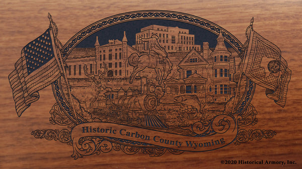 Carbon County Wyoming Engraved Rifle Buttstock