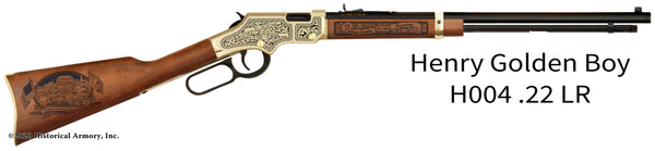 Carbon County Wyoming Engraved Henry Golden Boy Rifle