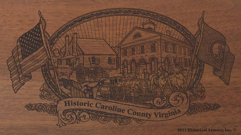 caroline county virginia engraved rifle buttstock
