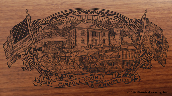 Carroll County New Hampshire Engraved Rifle