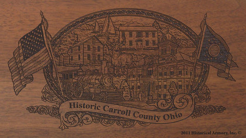 carroll county ohio engraved rifle buttstock