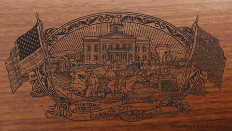 carson city county nevada engraved rifle buttstock