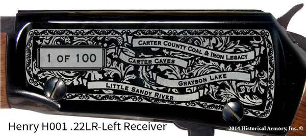 Carter County Kentucky Engraved Rifle