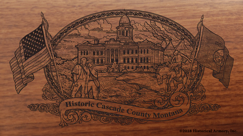Cascade County Montana Engraved Rifle