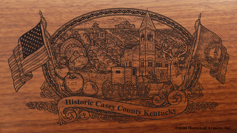 Casey County Kentucky Engraved Rifle