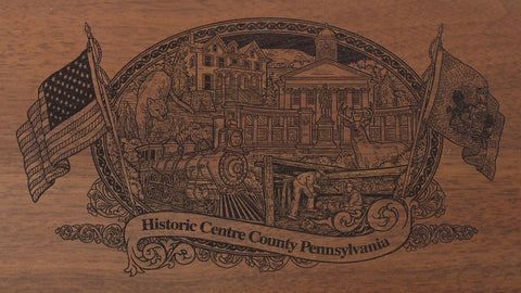centre county pennsylvania engraved rifle buttstock