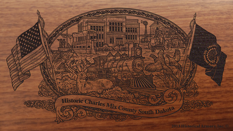 Charles Mix County South Dakota Engraved Rifle