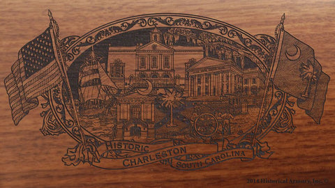 charleston county south carolina engraved rifle buttstock