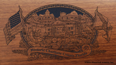 Charlotte County Florida Engraved Rifle Buttstock