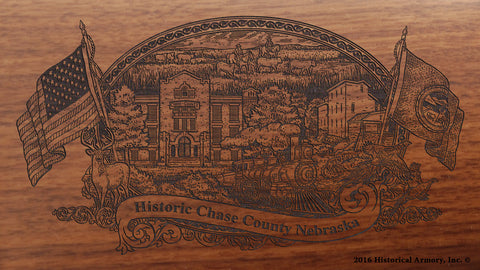 Chase County Nebraska Engraved Rifle