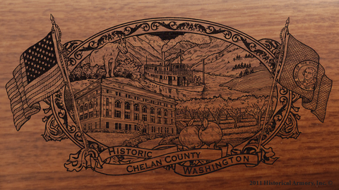 Chelan County Washington Engraved Rifle