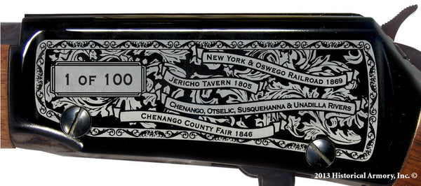 chenango county new york engraved rifle h001 receiver