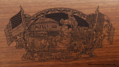 Cherokee County Iowa Engraved Rifle