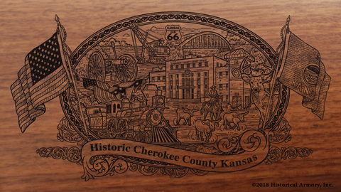 Cherokee County Kansas Engraved Rifle