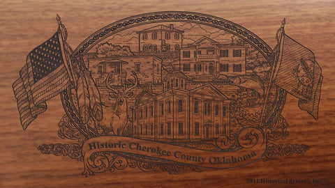 cherokee county oklahoma engraved rifle buttstock
