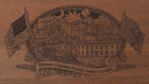 cherokee county south carolina engraved rifle buttstock