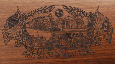 chester county tennessee engraved rifle buttstock