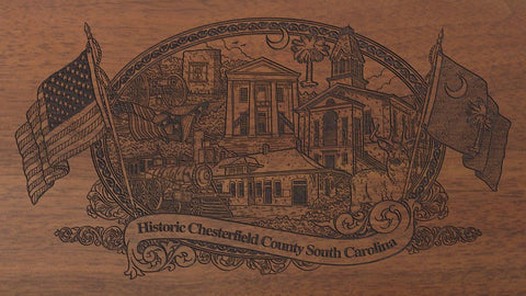 chesterfield county south carolina engraved rifle buttstock