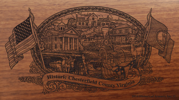 Chesterfield County Virginia Engraved Rifle