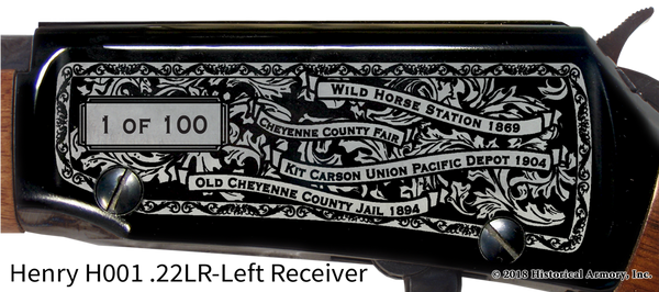 Cheyenne County Colorado Engraved Rifle