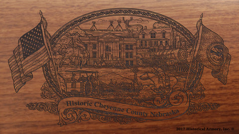 Cheyenne County Nebraska Engraved Rifle