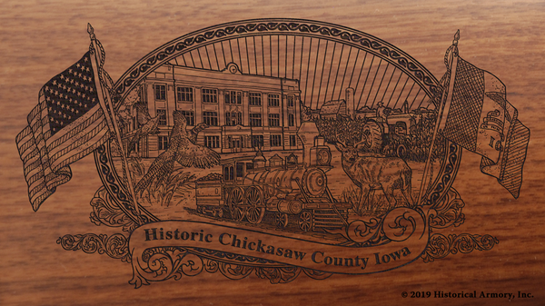 Chickasaw County Iowa Engraved Rifle