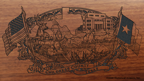 Childress County Texas Engraved Rifle