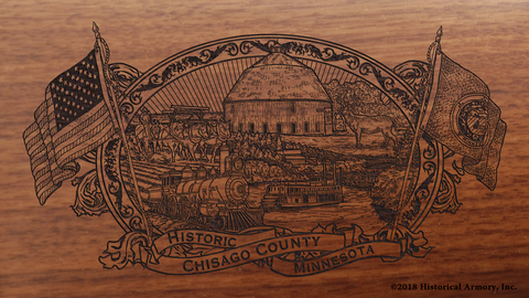 Chisago County Minnesota Engraved Rifle