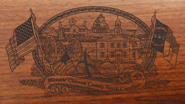 chowan county north carolina engraved rifle buttstock