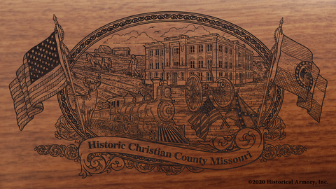 Christian County Missouri Engraved Rifle