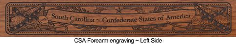 civil war 150th 1865 engraved rifle falt csa
