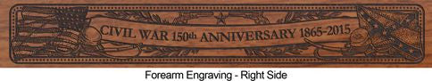 civil war 150th 1865 engraved rifle fart