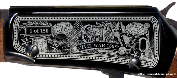 civil war 150th 1865 engraved rifle h001 receiver lt