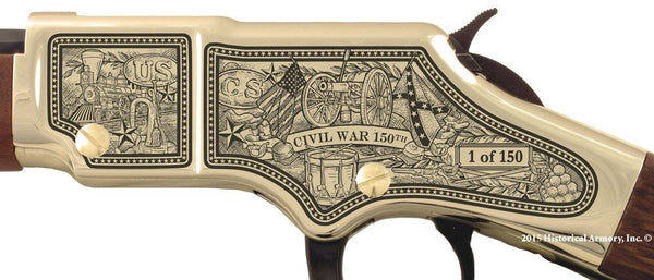 civil war 150th 1865 engraved rifle h004 receiver lt