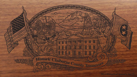 claiborne county tennessee engraved rifle buttstock