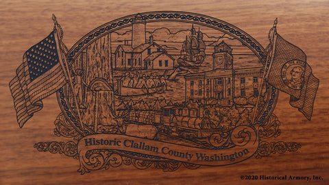 Clallam County Washington Engraved Rifle Buttstock