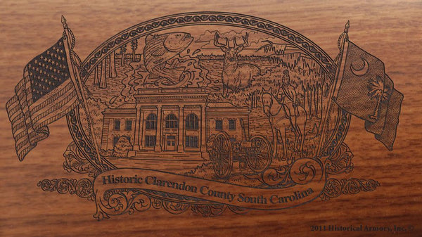 clarendon county south carolina engraved rifle buttstock