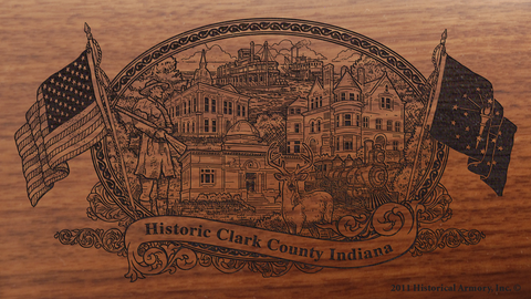 Clark County Indiana Engraved Rifle