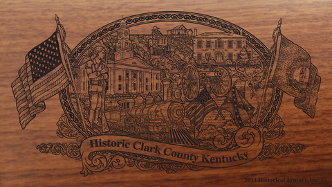 Clark County Kentucky Engraved Rifle