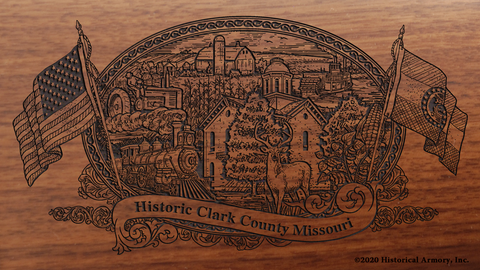 Clark County Missouri Engraved Rifle