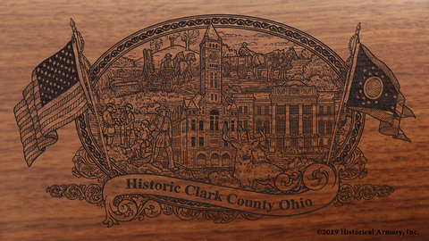 Clark County Ohio Engraved Rifle