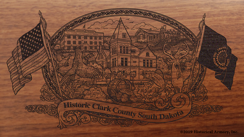 Clark County South Dakota Engraved Rifle