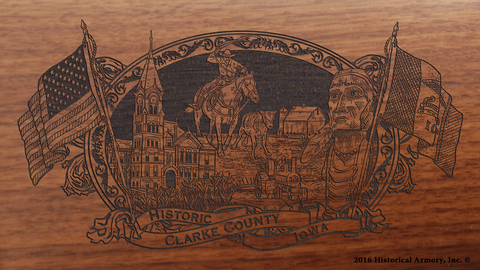 Clarke County Iowa Engraved Rifle