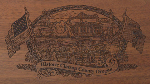 clatsop county oregon engraved rifle buttstock